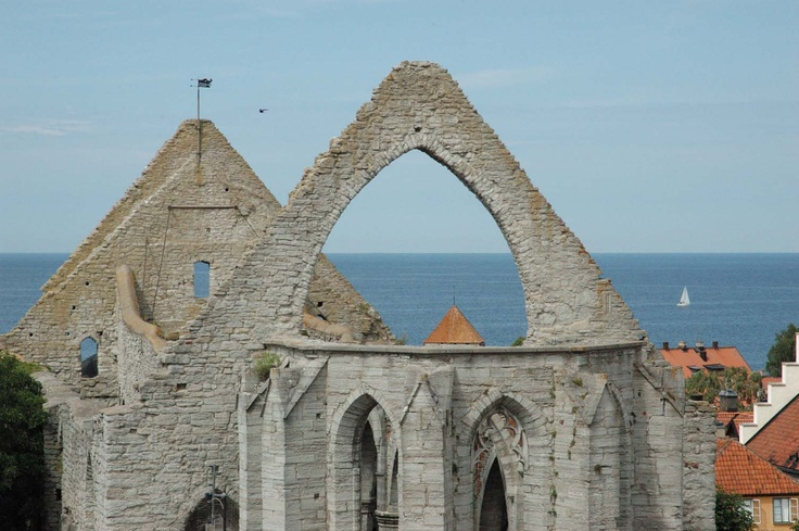 ruins of a church in Visby, Gotland