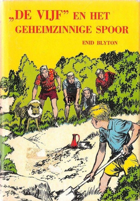 De Vijf en het geheimzinnige spoor, geschreven door Enid Blyton.3e druk. Uitgegeven door Bechts - Amsterdam