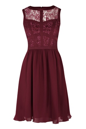 Dresses | Purple Lace Bodice Soft Prom Dress. | Warehouse