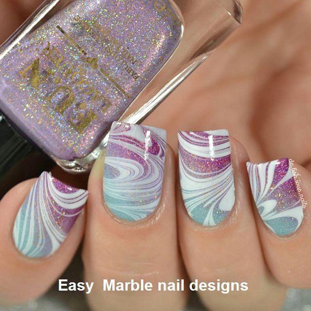 25 Marble Nail Design With Water Nail Polish 2 Diy Nail Designs Nail Art Diy Easy Nail Art For Kids
