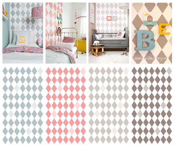 Behang wiebertjes bibelotte maar ook sterretjes wellicht ook voor idee voor kamer lotte - Wallpapers voor kamer ...