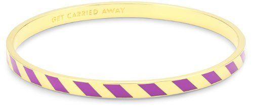 "Kate Spade New York ""Get Carried Away"" Purple Idiom Bangle Bracelet Kate Spade New York. $48.00. Made in CN"