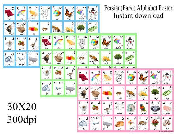Persian-Farsi Alphabet Poster