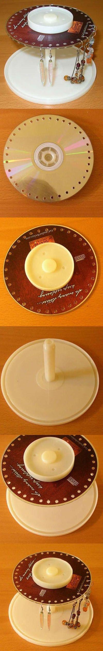 DIY Old CD Earring Stand   DIY & Crafts Tutorials