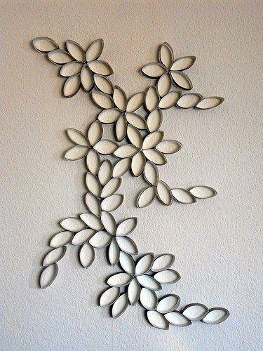 rollos papel decoración pared