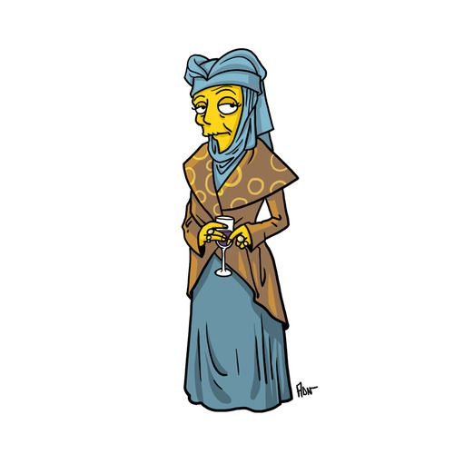 """Lady Olenna Tyrell from """"Game Of Thrones"""" / Simpsonized by ADN"""