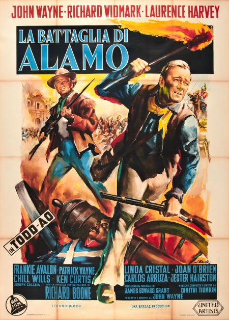 "Western Movie Posters John Wayne ""The Alamo"" Italian 4 - Foglio (55"" X 78"") original vintage film poster.  See it at www.cvtreasures.com , Conway's Vintage Treasures   $1550"