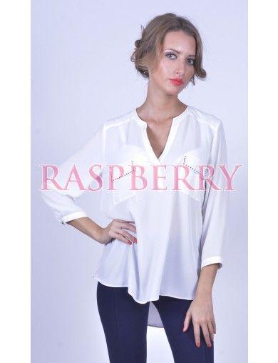 White Shirt with Applications - Bluze - Imbracaminte