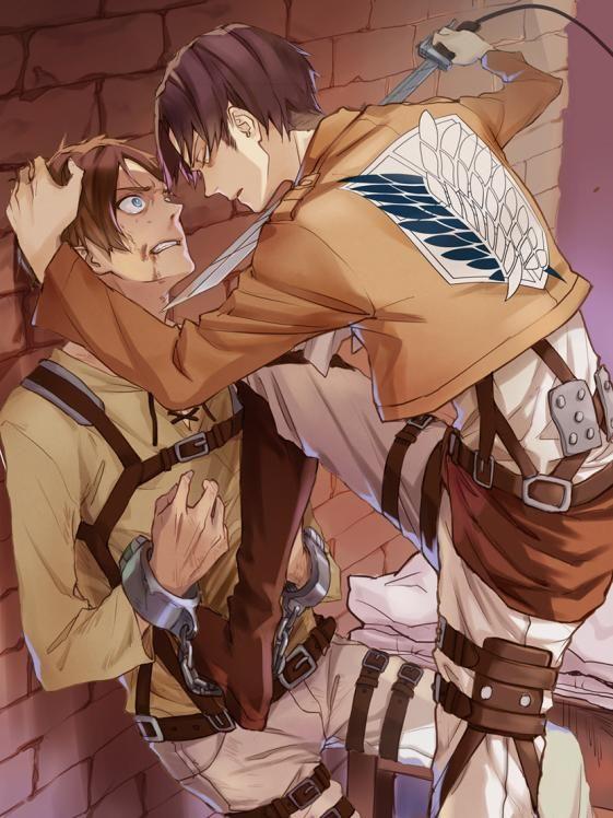 Аниме картинка, арт. Ар, Вторжение гигантов. http://animekomori.com