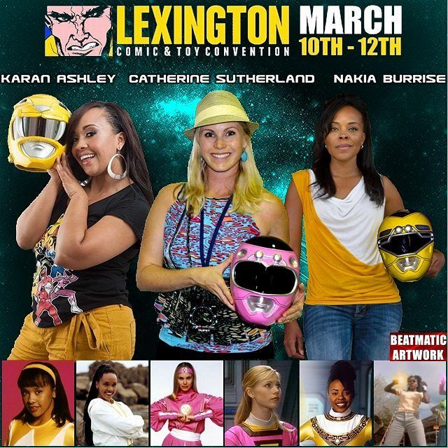 Tomorrow @catherine_sutherland @karanashley and @nakiaburrise  will be at Lexington. Make sure you Purchase your Raffle Ticket there.  #nakiaburrise #trentonnjpromoter #teamnakiab #mightymorphin #Beatmaticsupports #yellowranger  #actorslife #2017Unleashed #tvactor #television #MMPR #zeo #catherinesutherland #kentucky #theordermovie #pinkrangerkat #pinkranger #convention #beatmaticartwork #legendary #filmcommunity #teamkittykat #martialarts #powerrangers #conventioncentre #lexington #turbo…
