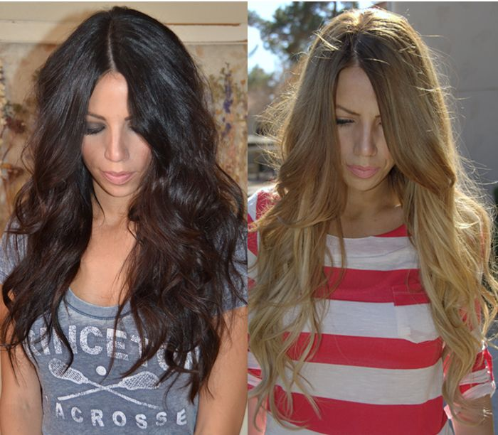 for girls who went black but wanna come back, heres how to go blonde from dark!
