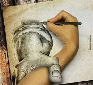 Image Search Results for 3d hand art draw