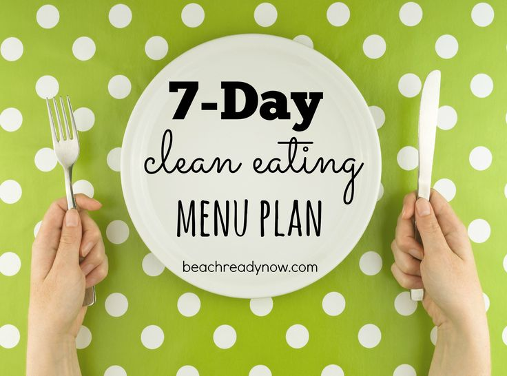 7 Day Clean Eating Meal Plan #BeachReadyNow