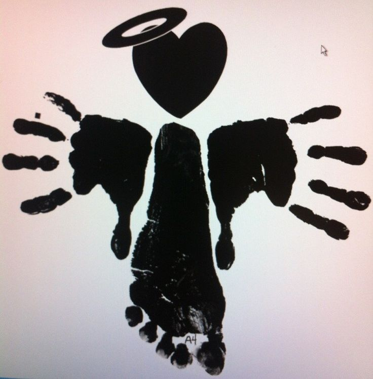 HAND and FOOTPRINT ANGEL