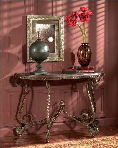 Dark Brown Sofa Table – Signature Design by Ashley Furniture  http://www.furnituressale.com/dark-brown-sofa-table-signature-design-by-ashley-furniture-3/