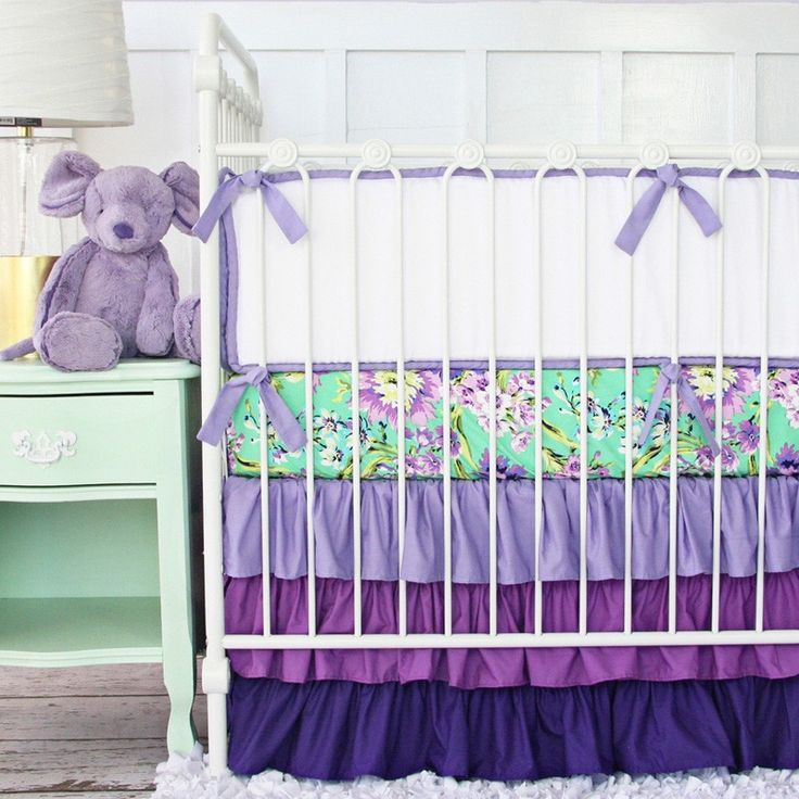 Nursery Beddings:Purple Crib Bedding Sets Together With Purple And Brown Crib Bedding Sets Also Purple Cheetah Crib Bedding Set As Well As Purple And Gray Crib Bedding Sets Purple Crib Bedding Sets