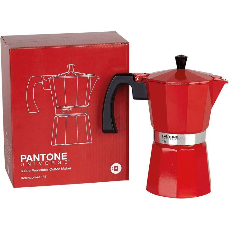 Pantone Coffee Maker Red : Pantone percolator Coffee Maker Ketchup Red 186. http://en.wearunique.com/6-cup-pantone-italian ...