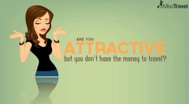 miss travel - dating website for rich men and the women who want to take advantage.. crazy!