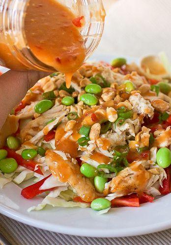 Sweet Chili Thai Dressing...use with Thai chop salad. Yum yum yum.... Subbed greek yogurt for coconut milk, still good and added sriracha for more of a kick