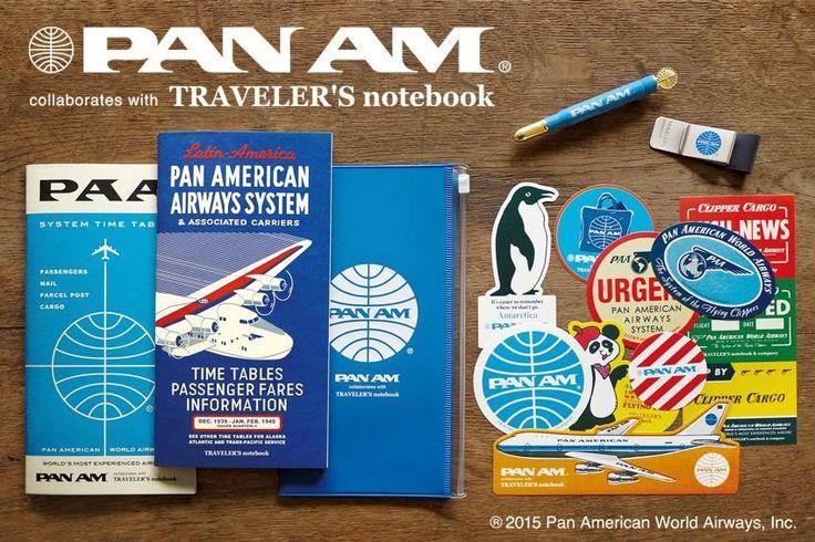 Goulet Pens Blog: Sneak Peek: Midori Traveler's Notebook Blue Edition with PanAm Accessories