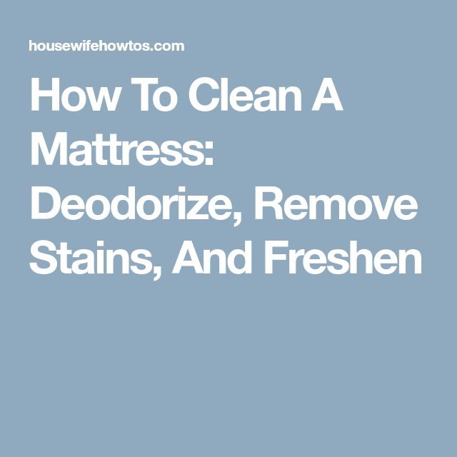 how to clean your mattress from stains
