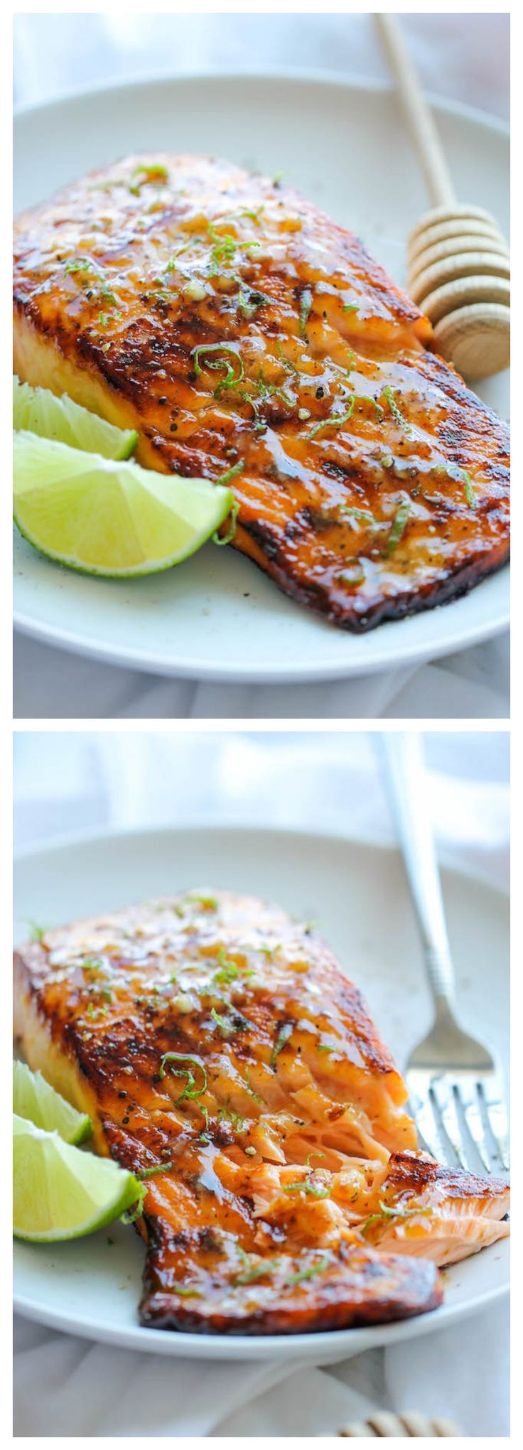 Honey Glazed Salmon - The easiest, most flavorful salmon you will ever make.