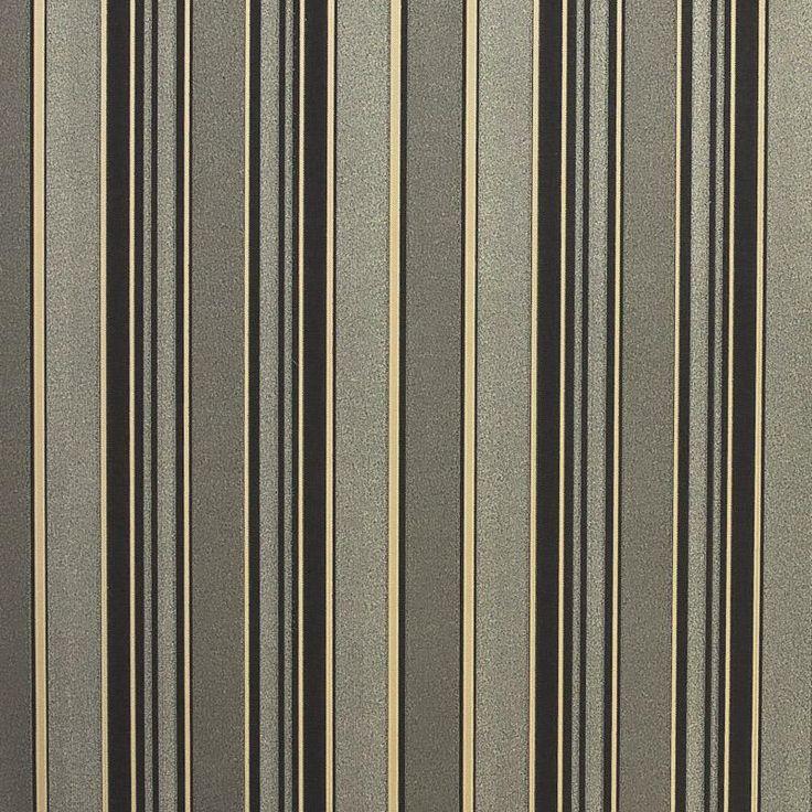 Обои флизелиновые 0,53х10 м, полосы коричневые, Обои декоративные - Каталог Леруа Мерлен