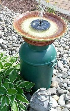 s 11 charming things you can do with an old milk can, crafts, Use It as a Water Feature