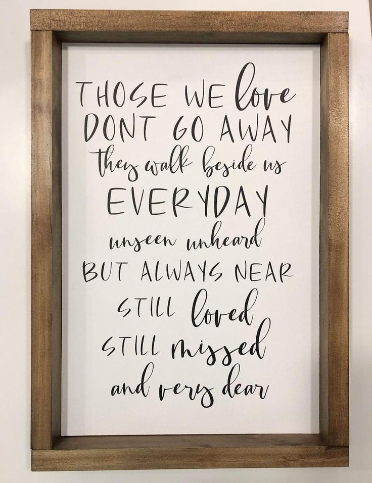 Download Those We Love Don't Go Away Sign Family Wood Sign | Etsy ...