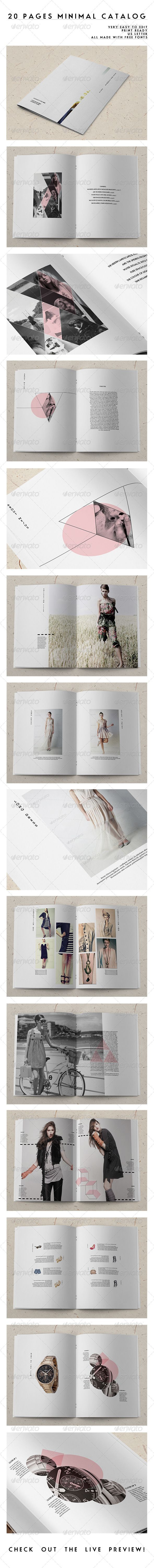 20 Pages Minimal Catalog - Catalogs Brochures | typography / graphic design @ envato |