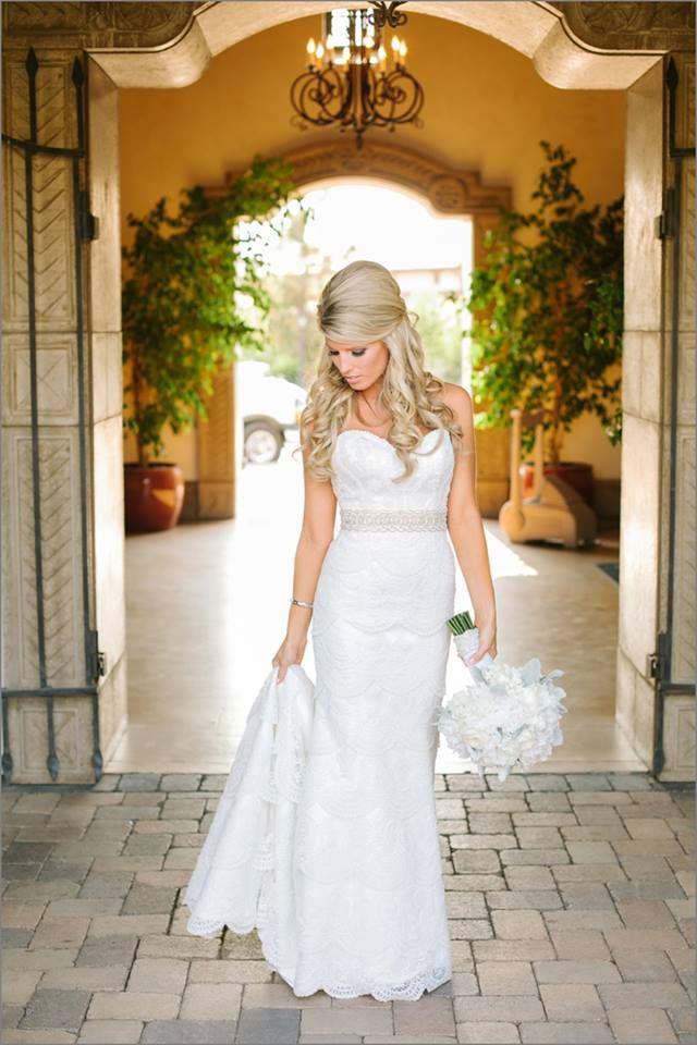 Bride, posing.