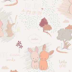 Fitted Cot / Crib sheet Bunny Rabbit  Hello Little one by Pappiyon, $49.95