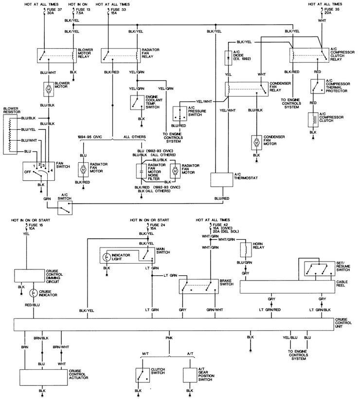 Elegant 2001 Honda Civic Wiring Diagram In 2020
