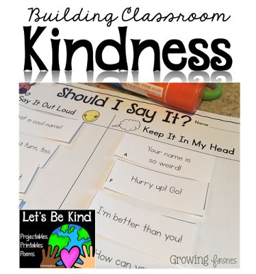 "LOVE the poems, printables and projectables in this kindness unit! The kids really love the ""Let's Be Kind"" mantra at the end of each poem."