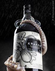 Release the Kraken! (pagarneau) Tags: life rain bottle still drink beverage alcohol rum product tentacle kraken