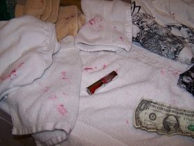 Bella Before and After: How to remove Lipstick stains from clothes.