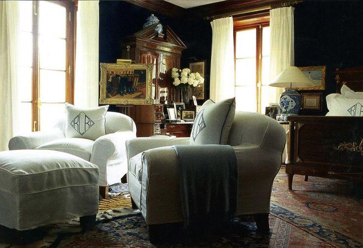 The Bedford, New York home of Ralph Lauren.   #ralphlauren #interiordesign