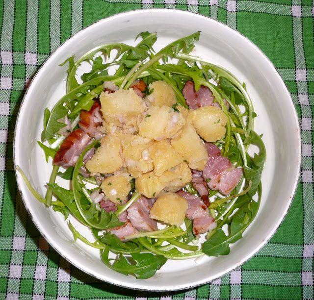 CC-cuisine: Salade vosgienne au pissenlit