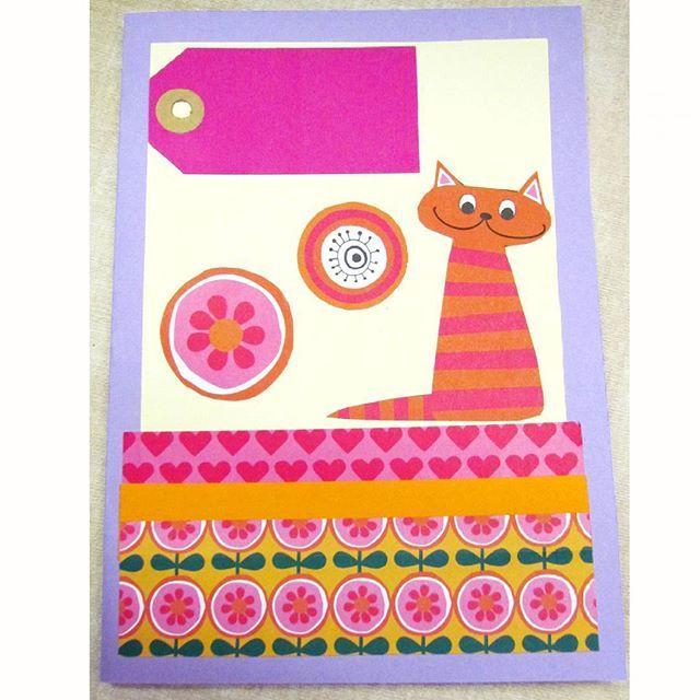 And here is the cutest #tigercat rocking this #happybdaycard! #card #cardmaking #diycard #handmadecard  #birthdaycard #cardmaker #diy #handmade #handcraft #papercraft #paperlove #stationery #stationerylover #stationeryaddict #papercard #craft #creativity #creatività #creareconlafantasia #auguri #handmadewithlove #crafttime #timetocraft #handmadecard #fattoamano #cartoline #bigliettoauguri #craftsupplies