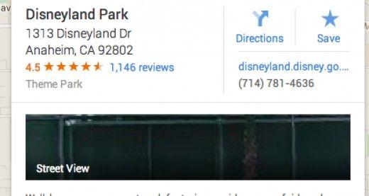 Disneyland's address- 1313 Disneyland Dr.