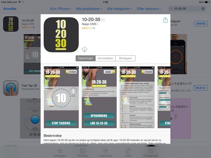 App til interval løbe træning ud fra 10-20-30