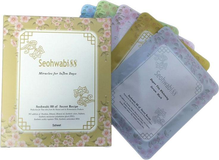 Korean Cosmetics Anti Aging Skin Care Facial Sheet Mask Packs of Organic Herb  #Seohwabi