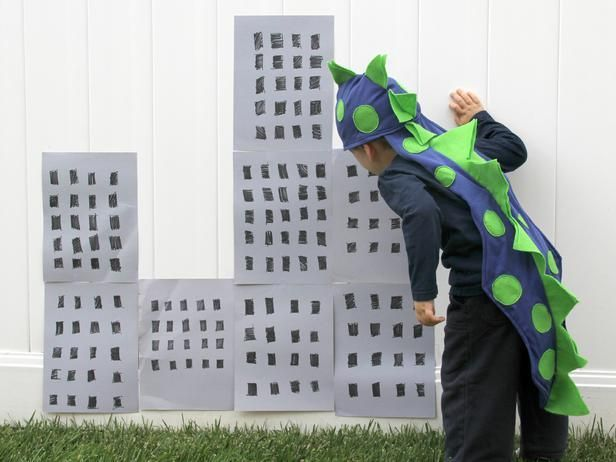 This fun dinosaur hat and spiky tail costume will make every child stomp with delight.