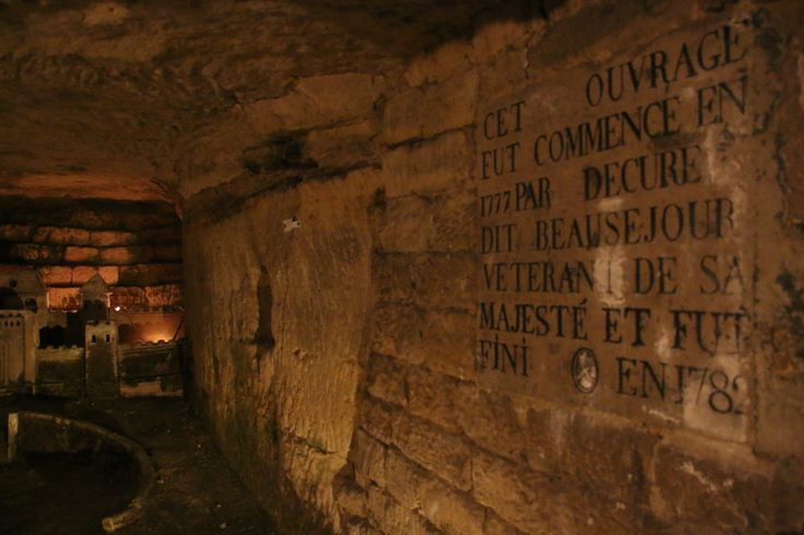 Weird, tiny buildings in the Paris Catacombs, built between 1777 and 1782.