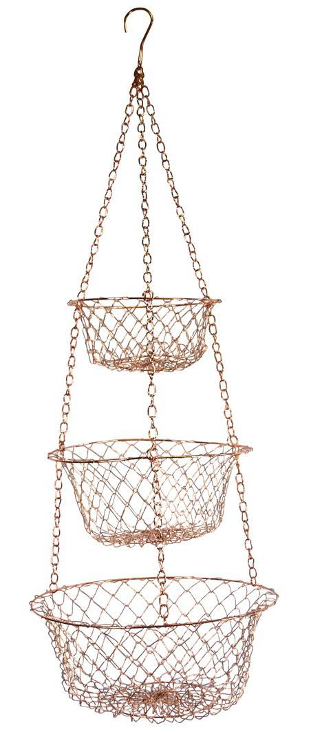 17 Best Ideas About Hanging Fruit Baskets On Pinterest Hanging Wire Basket Kitchen Space