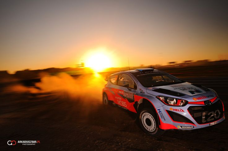 Kevin Abbring - sunset in WRC Rally of Poland!