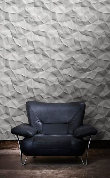 3D Wall Surfaces. Texture. Geometric. Design. Chair. Modern. Forward.