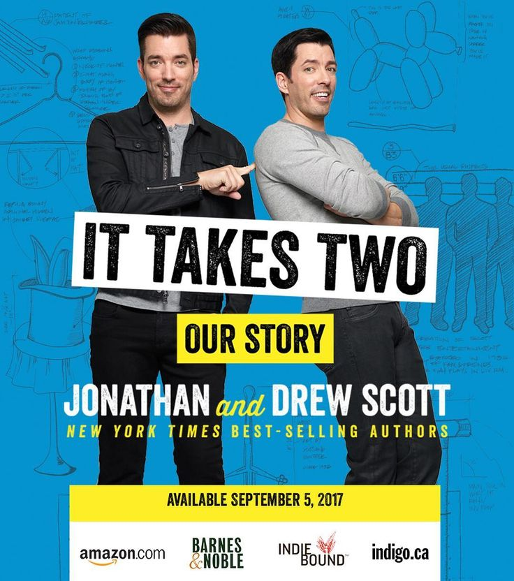 """Drew Scott on Instagram: """"The news is out! Our second book, It Takes Two: Our Story, releases Sept 5th! Reserve your copy now with the link in bio and keep your eyes peeled for cover bts and teasers! #ItTakesTwo"""""""