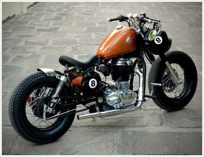 Rajputana Customs - '8Ball' - Pipeburn - Purveyors of Classic Motorcycles, Cafe Racers & Custom motorbikes