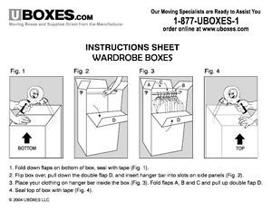 Moving Boxes: How to Pack your Wardrobe Moving Boxes | eBay